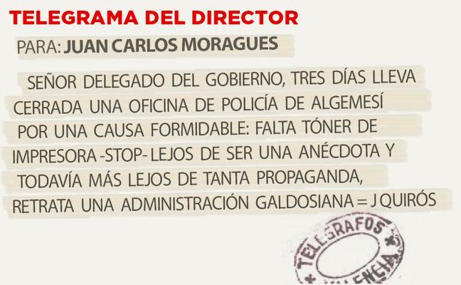 Telegrama para Juan Carlos Moragues