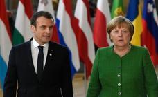 Merkel y Macron apremian a Putin a presionar a Siria para que cesen los combates