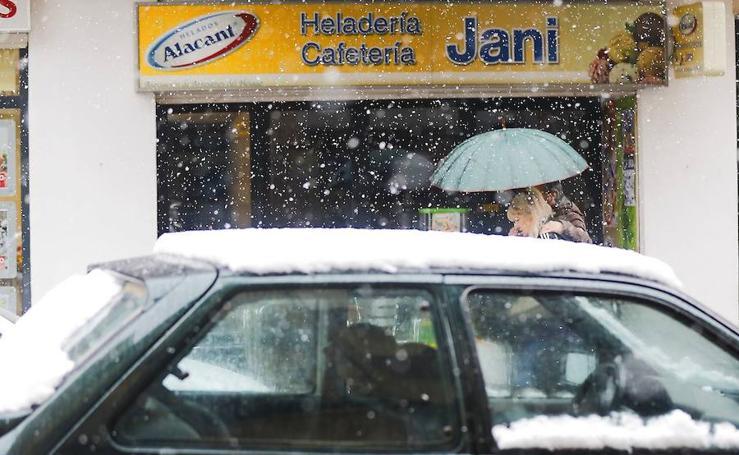 Fotos del temporal de nieve y lluvia en la Comunitat