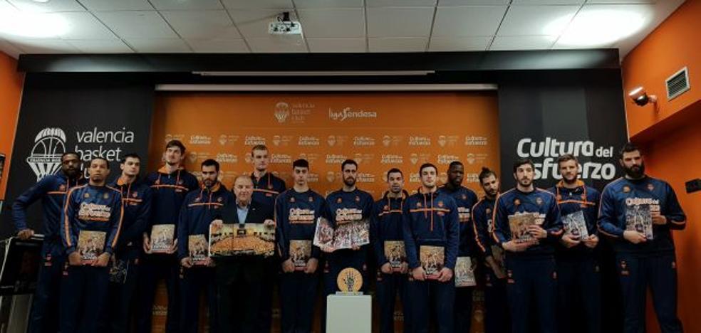 El Valencia Basket presenta el Trofeo al Esfuerzo y el libro de su histórico 2017