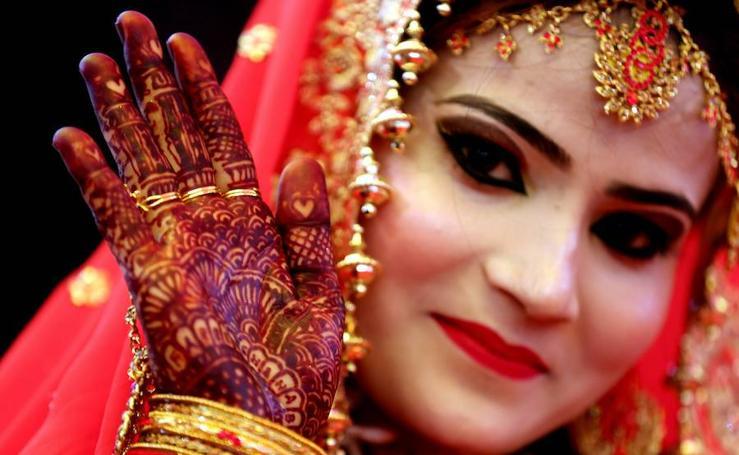 Fotos de una boda multitudinaria en la India