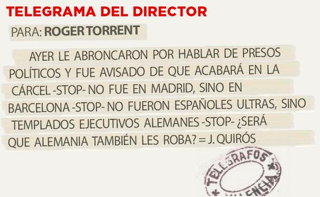 Telegrama para Roger Torrent