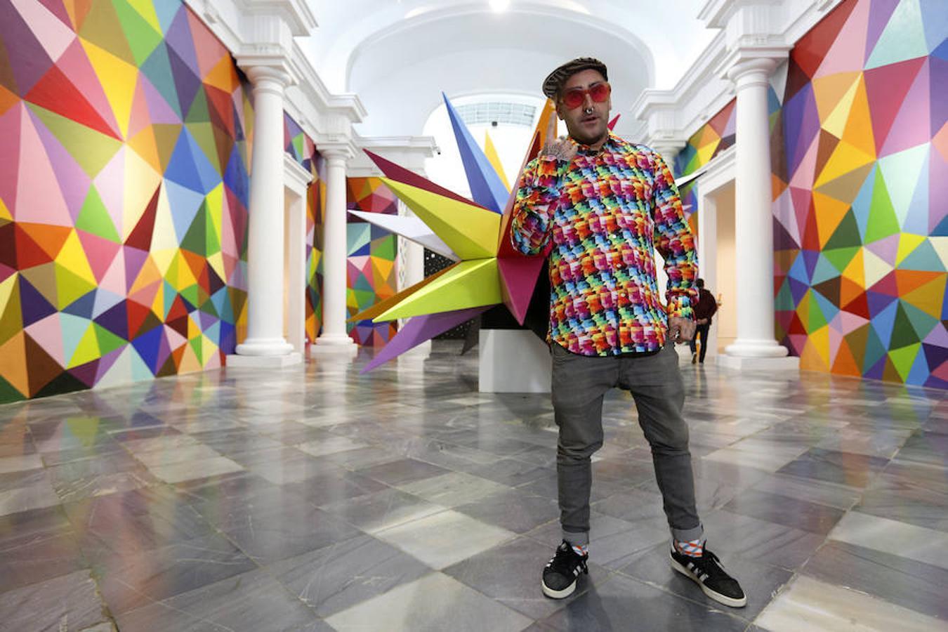Fotos de la exposición de Okuda en el Centro El Carmen