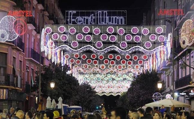 Cuba-Puerto Rico gana el premio a la calle mejor iluminada de las Fallas 2018