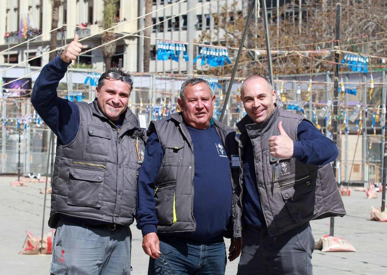 Fotos de la mascletà del once de marzo a cargo de Pirotecnia Tomás de Benicarló