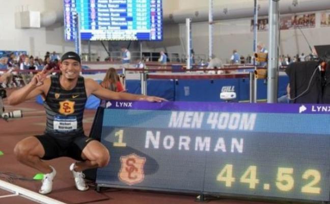 Récord mundial de 400 metros en pista cubierta de Michael Norman