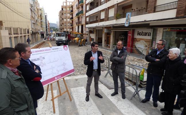 Ontinyent inicia la reurbanización de la calle Pintor Segrelles
