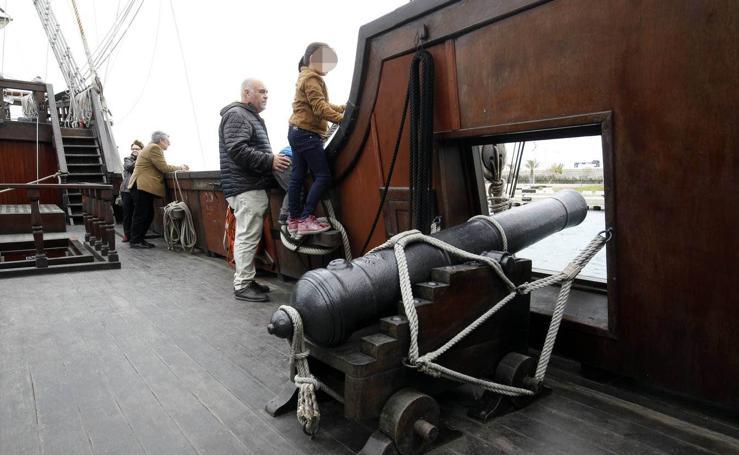 Así es el galeón español que se puede visitar en la Marina de Valencia