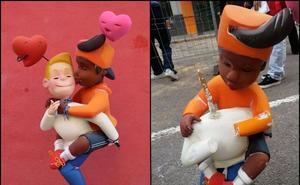 Destrozan el ninot de dos chicos besándose de una falla de Valencia en un ataque «homófobo»