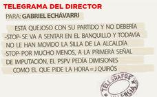 Telegrama para Gabriel Echávarri