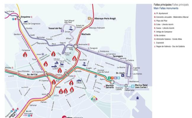 Metro Fallas 2018: horarios nocturnos, mapa de estaciones y recomendaciones