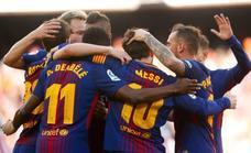 Una primera parte arrolladora le vale al Barça