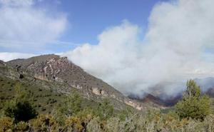 El incendio forestal de Montán arrasa ya 35 hectáreas