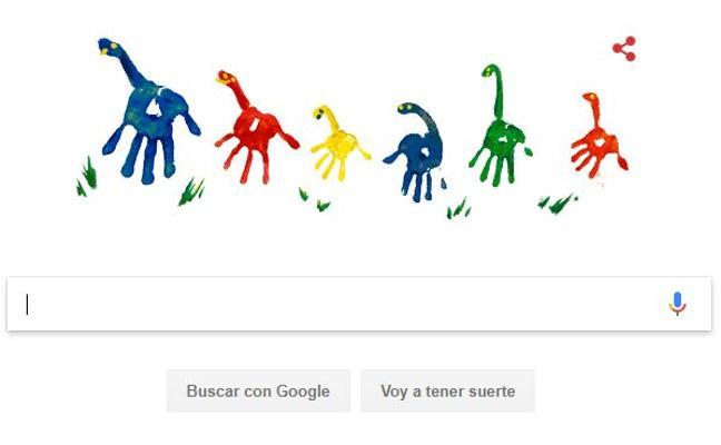 Un doodle de Google por el Día del Padre