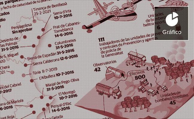 Alarma por el peligroso estado del monte valenciano ante la llegada de la Semana Santa