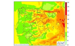 Alerta naranja por vientos de hasta 100 km/h en la Comunitat