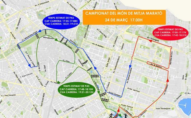 Cómo llegar en autobús a la zona cero del Mundial de Medio Maratón y dónde aparcar