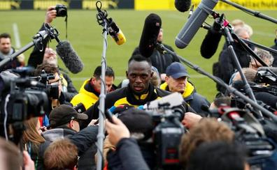 El 'Rayo' Bolt incendia el entrenamiento del Borussia Dortmund
