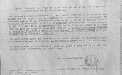 Alertan de la aparición de falsos avisos de expropiación en edificios de Valencia