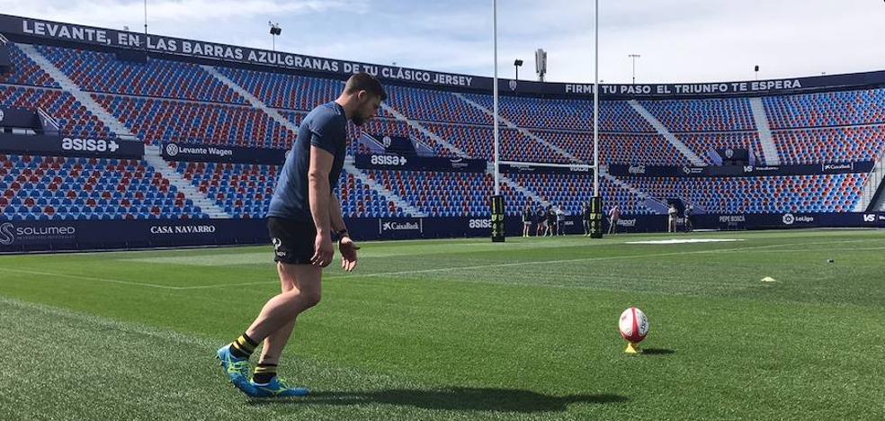 Palos de 16 metros para la final de la Copa del Rey de Rugby