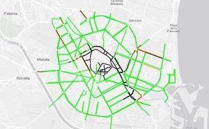 El Ayuntamiento ralentiza el acceso de vehículos a Valencia por el medio maratón
