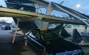 Vientos de 103 km/h en la Comunitat: un tornado causa daños en Xàtiva
