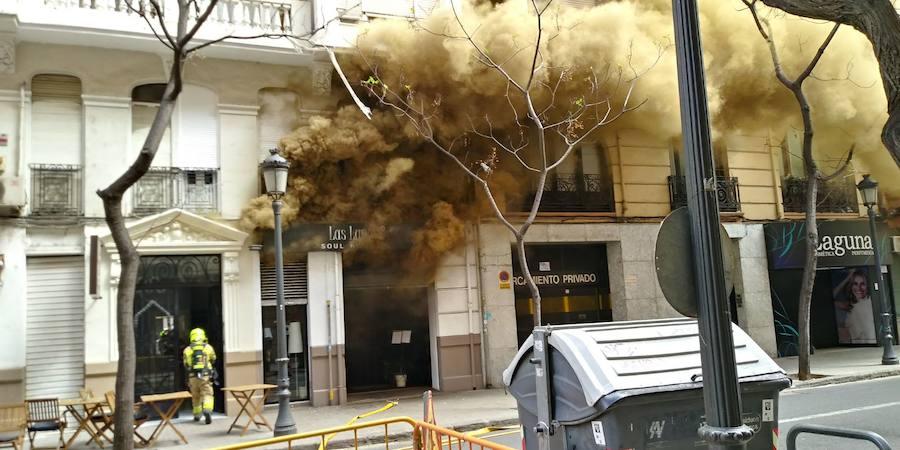 Incendio de un restaurante en la calle Císcar de Valencia