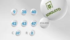 Resultados de la Bonoloto de hoy sábado 14 de abril. Combinación ganadora del sorteo y números premiados