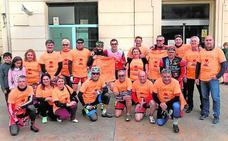 El grupo de ciclistas de la Ruta del Grial pasa por Massamagrell