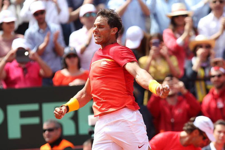 Fotos del partido Rafa Nadal vs Zverev de Copa Davis