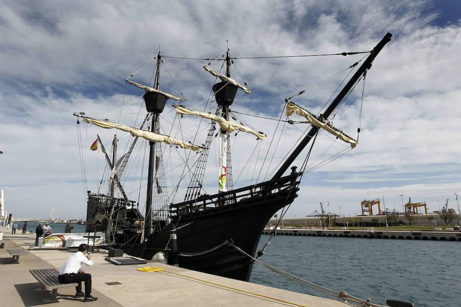 Fotos de la Nao Victoria, réplica del barco que dio la primera vuelta al mundo