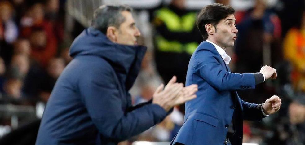 Marcelino: «Es muy difícil que el Barça pierda dos partidos seguidos»