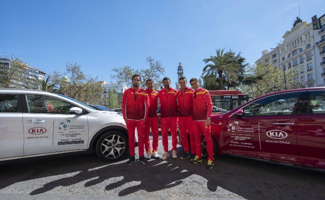 Kia, en Valencia con los héroes de la Copa Davis
