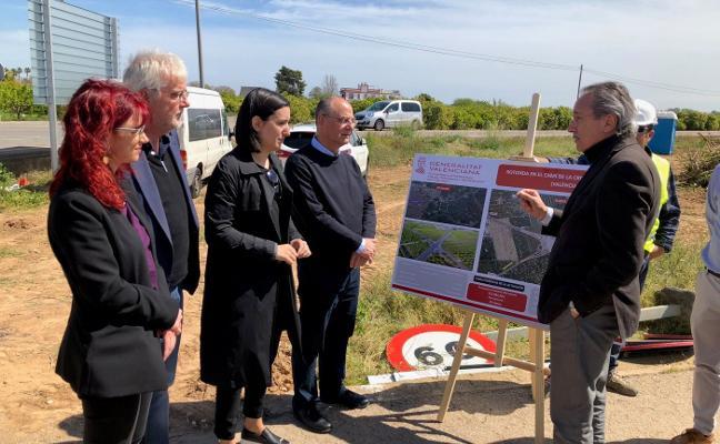 La rotonda de camí de la Creueta de Algemesí solucionará los problemas en la zona en un año
