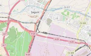 Muere un motorista al salirse de la vía en la V-23 en Sagunt