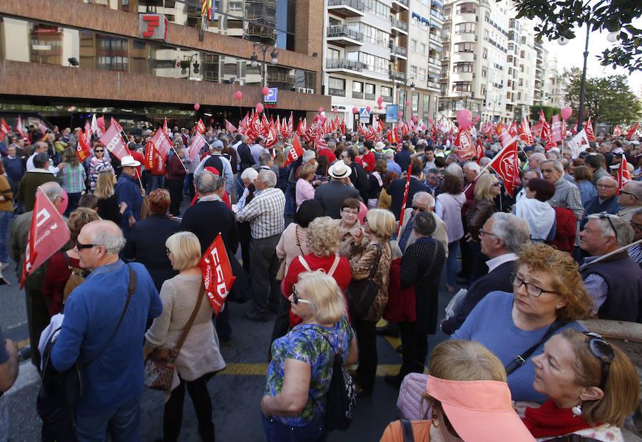Manifestación de los pensionistas en Valencia contra la congelación de las pensiones