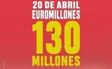 Euromillones: 130 millones de bote en el sorteo de este viernes 20 de abril