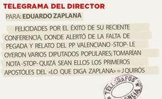 Telegrama para Eduardo Zaplana