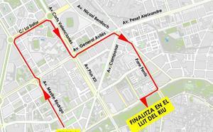 Calles cortadas al tráfico el domingo por la carrera José Antonio Redolat