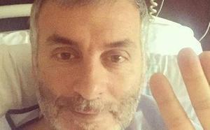 El cantante de La Habitación Roja manda un mensaje desde el hospital