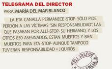 Telegrama para María del Mar Blanco