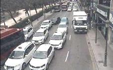 Problemas de circulación en el centro de Valencia
