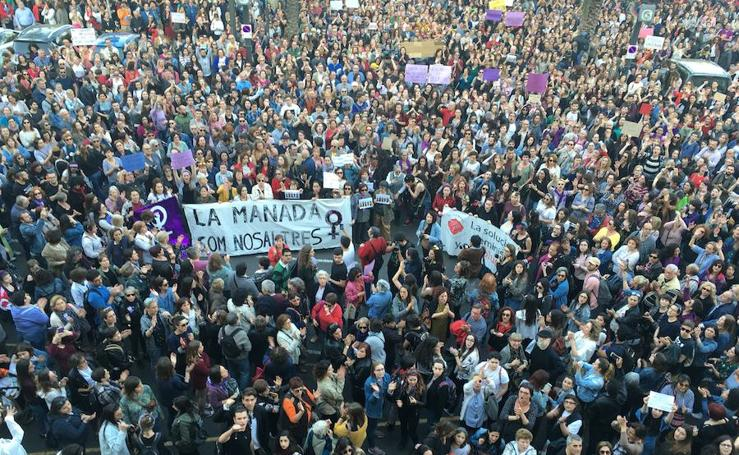 Fotos de la concentración en Valencia contra la sentencia a 'La Manada'