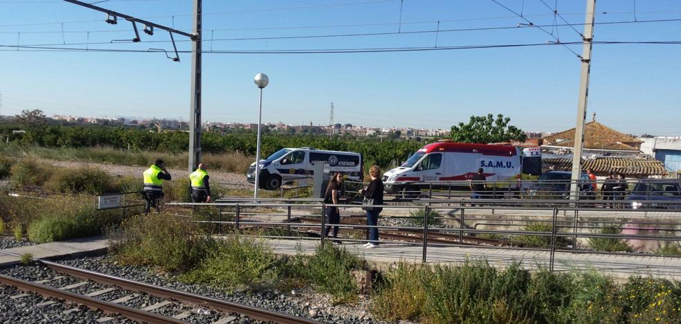 Accidente en el paso a nivel del metro de Paterna