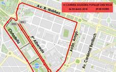 Calles cortadas por la Carrera de la Cruz Roja el Día de la Madre en Valencia