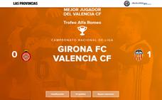 Elige al mejor jugador del Valencia en el partido de hoy