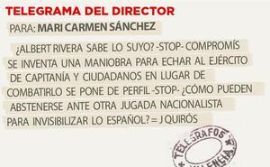 Telegrama para Mari Carmen Sánchez