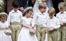Los pequeños Jorge y Carlota, paje y dama de honor