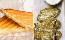 Sólo para 'foodies': alitas de pollo y sandwiches bañados en oro