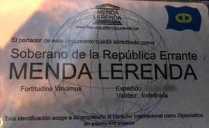 A juicio por identificarse con un DNI como 'Menda Lerenda, soberano de la República Errante'